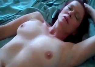 Mommy fucked in POV on a big bed