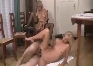 Mom watches her hubby fuck their daughter