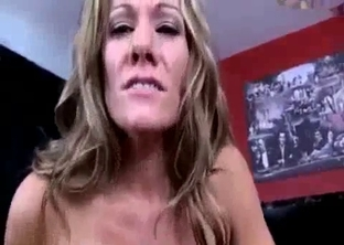 Mommy sucking her son's massive cock in POV