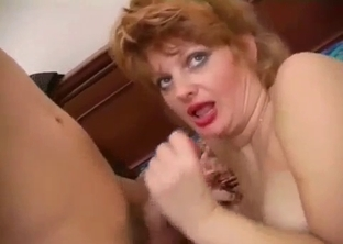 Mommy with big tits fucking her hung son