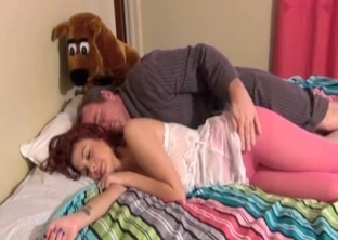 Redheaded teen fucked by her sick daddy