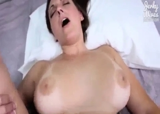 POV incestuous fucking with a busty brunette
