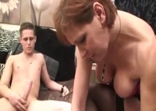 Busty redheaded mommy fucked in POV