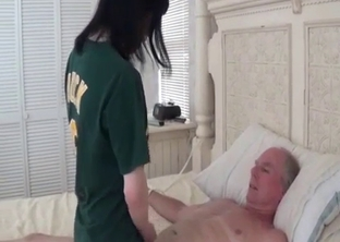 Young daughter sucking her dad's cock