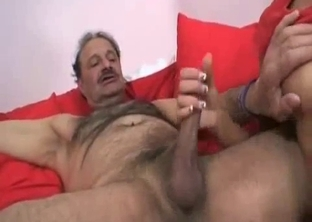 Hairy dad fucks his daughter and wife